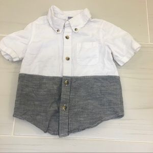 Old Navy color block button down shirt